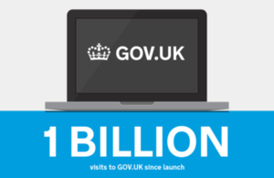 1 billion visits to the gov.uk website