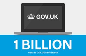 1 billion visits to the gov.uk website