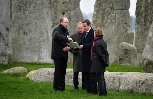 Prime Minister David Cameron visits Stonehenge