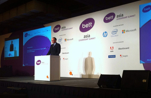 HE Antony Phillipson gave opening speech at BETT Asia, 3 December 2014.