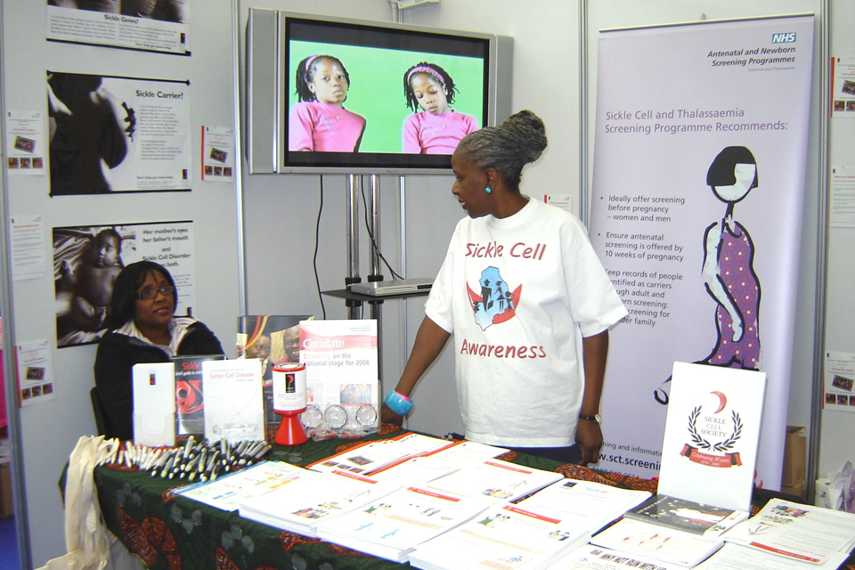 Sickle cell awareness outreach events table