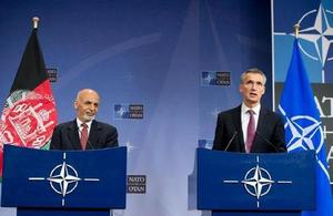 Afghan President Ghani and NATO Secretary General Stoltenberg
