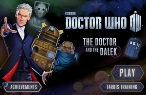 The Doctor and the Dalek: Dr Who game cover.