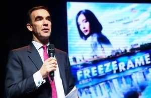 Deputy Head of Mission Andrew Key hosted the Premiere of first ever British Embassy GREAT film project, Freeze-Frame.