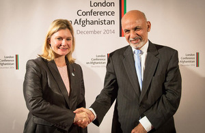 International Development Secretary Justine Greening meets Afghan President Ashraf Ghani. Picture: Simon Davis/DFID