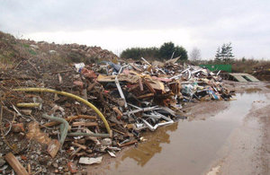 The waste site in Tetney, Grimsby