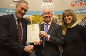 Gold award winners Carillion receive their awards from Julian Brazier