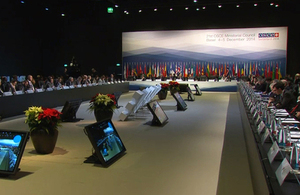 OSCE Ministerial Council plenary in Basel, Switzerland, 2014