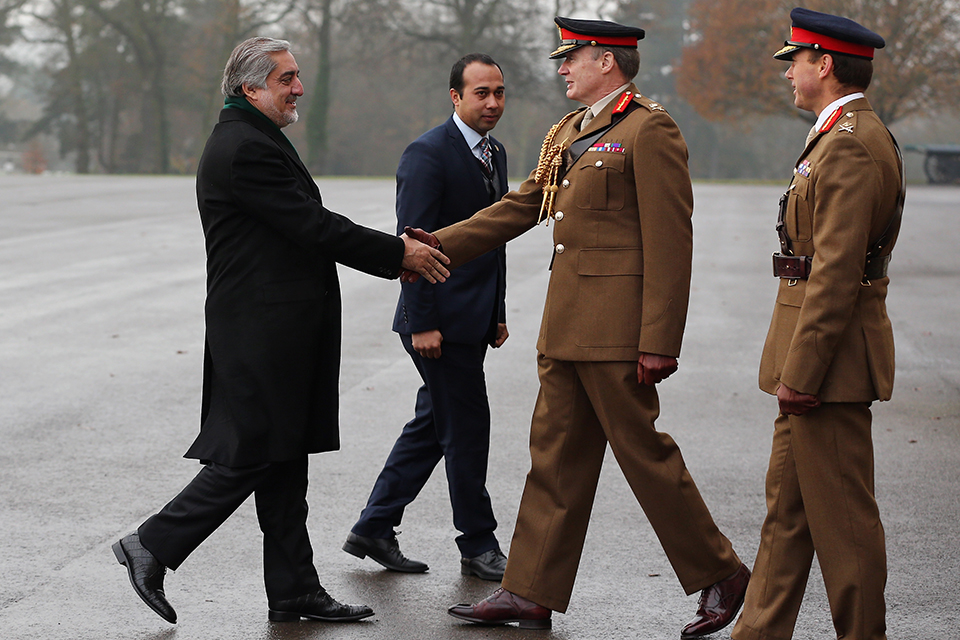 Abdullah Abdullah is welcomed to the Royal Military Academy Sandhurst