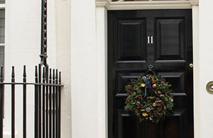11 Downing Street with wreath