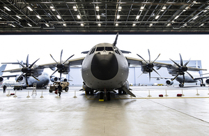 The A400M Atlas military transport aircraft [Picture: Andrew Linnett, Crown copyright]