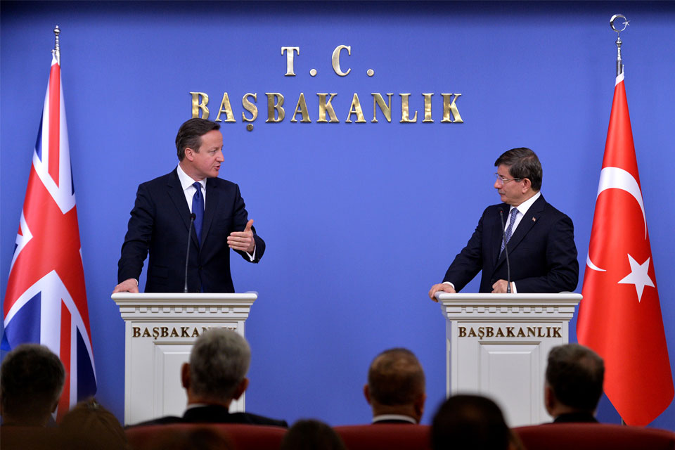 David Cameron and Ahmet Davutoglu press conference