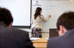 Image: teacher in lesson