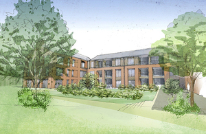 An artist's impression of new accommodation for veterans in Aldershot on the Christmas Lodge site [Picture: Copyright Stoll]