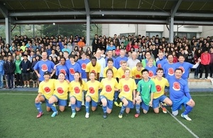 足球友誼賽紀念一次世界大戰聖誕節和平停戰