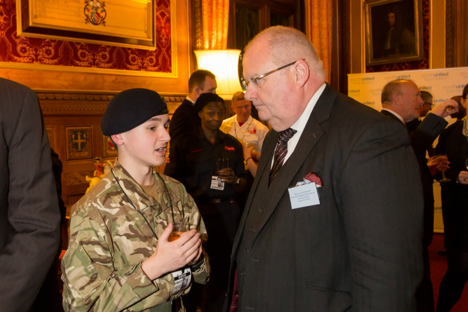 Eric Pickles meeting a cadet