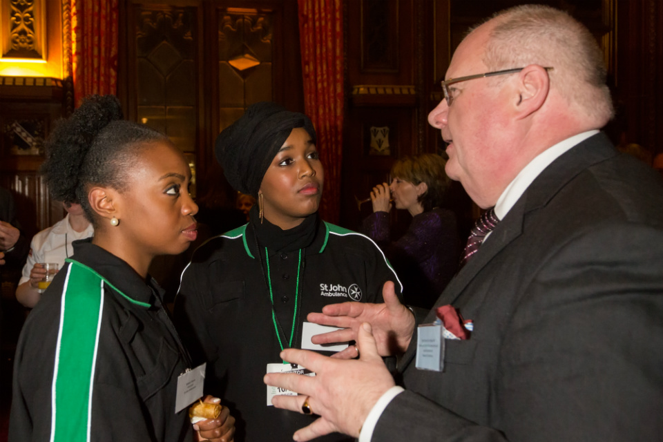 Eric Pickles meeting St John Ambulance volunteers