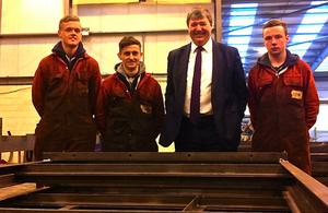 Parkhead Welding apprentices