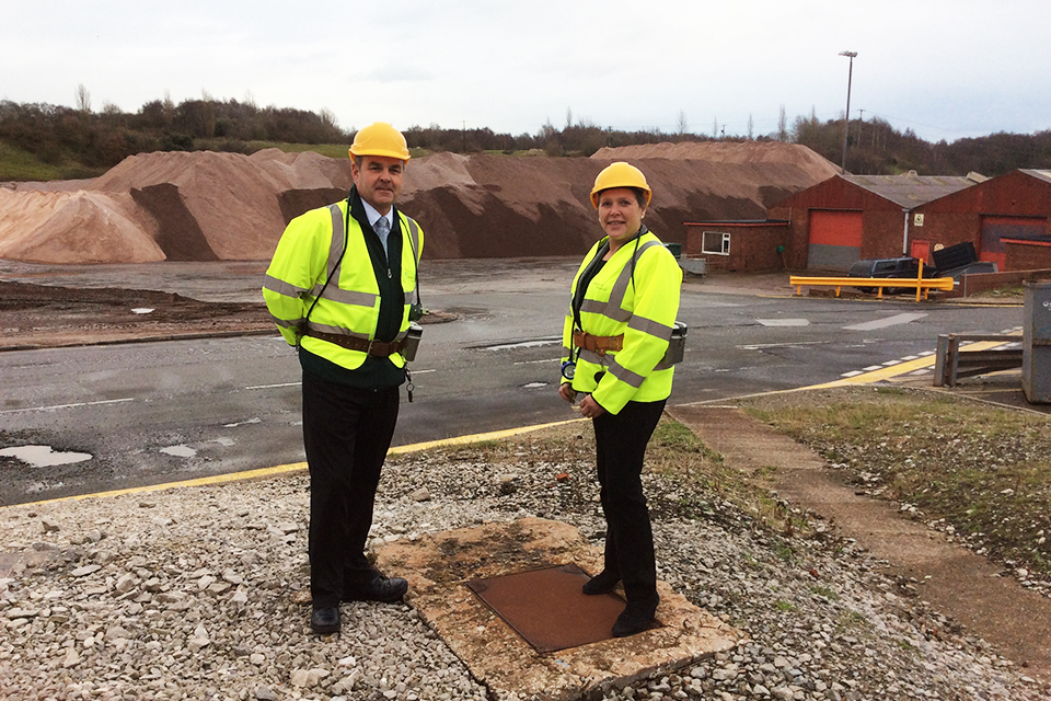 Baroness Kramer at Salt mine in Winsford, Cheshire
