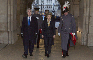 The Defence Secretaries arrive on Horse Guards Parade [Picture: Harland Quarrington, Crown copyright]