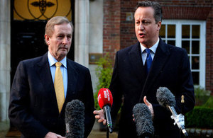 PM and the Taoiseach give a statement to press