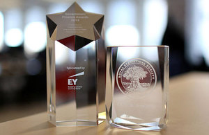 Royal Statistical Society award for Official Statistics, and the Government Finance Insight Award
