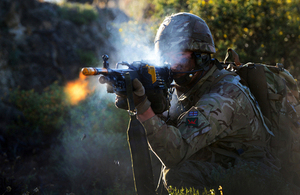 A reservist soldier from 3rd Battalion The Royal Welsh fires a machine gun during an exercise in Cyprus (library image) [Picture: Sergeant Russ Nolan, Crown copyright]