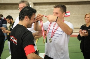 British Ambassador Tom Fletcher and One Lebanon captain Fouad Zmokhol