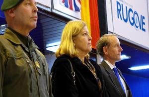 British Ambassador Ian Cliff, German Ambassador to Kosovo Angelika Viets, Deputy Commander KFOR Brigaider General A. Waldner