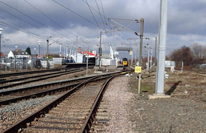 Image showing approach to Newark Northgate station