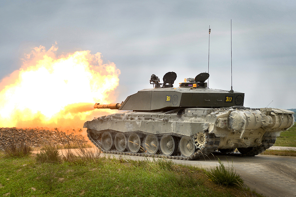 A Challenger 2 main battle tank