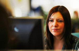 woman at PC