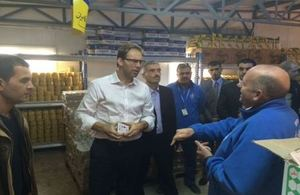UK Minister for the Middle East, Tobias Ellwood during his visit to Zaatari Camp for Syrian refugees
