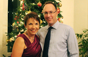 HE Antony Phillipson with his wife, Mrs Julie Phillipson