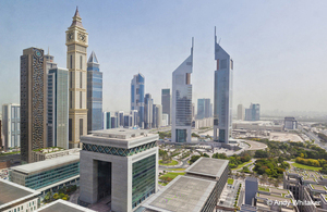 Arial image of Dubai