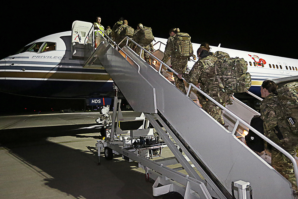 Reservists fly to Sierra Leone