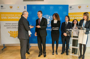 Project Grant ceremony at UN Eco Building