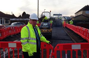 Patrick McLoughlin visits roadworks