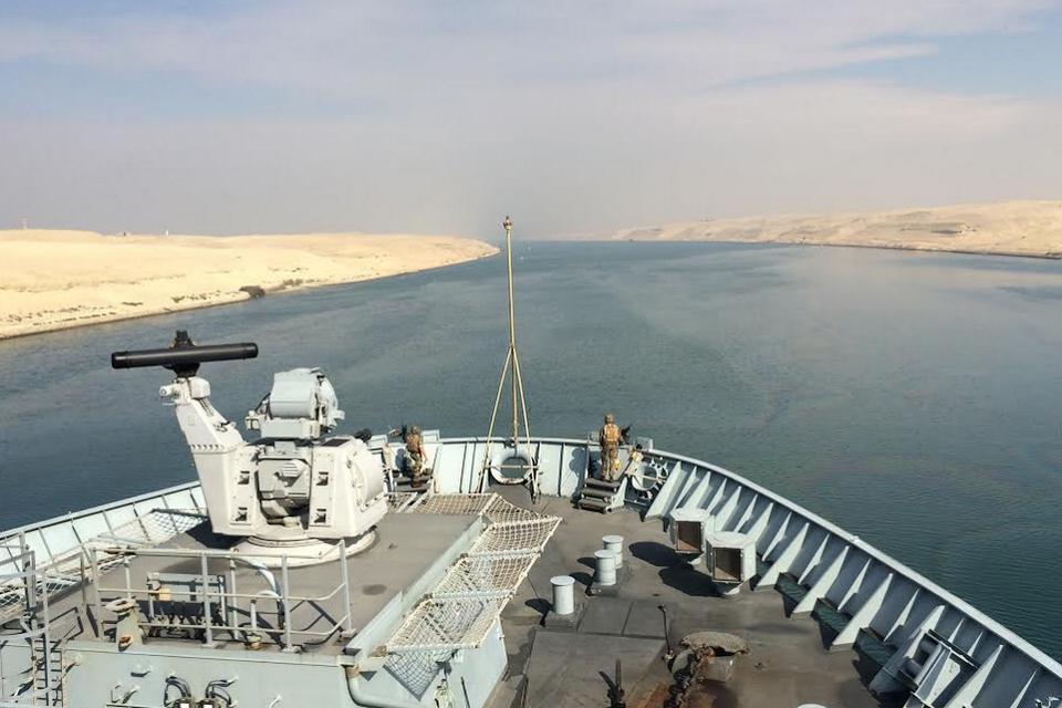 Bulwark in Suez Canal