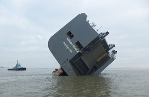 Picture of Hoegh Osaka aground