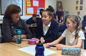 Education Secretary Nicky Morgan in a school classroom