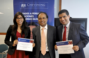 British Ambassador welcomed Chevening scholars back to Peru