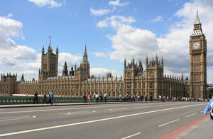 United Kingdom's Parliament building.