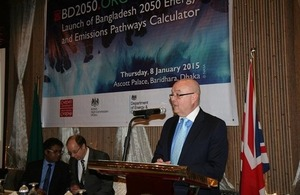The High Commissioner to Bangladesh Robert W Gibson launched the Bangladesh 2050 Energy Pathway's Calculator (BD2050) in Dhaka.