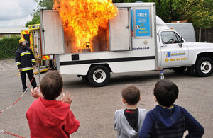 Cheshire Fire Service safety demonstration