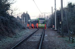 Image showing derailed tram near Mitcham Junction