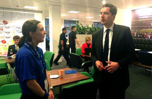 Edward Timpson meets a National Grid intern