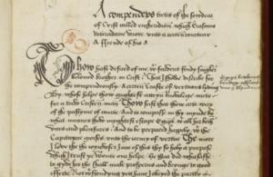 Erasmus manuscript