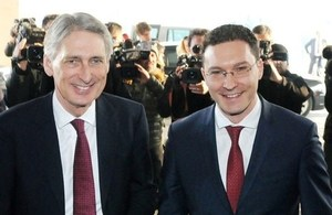 Foreign Secretary Philip Hammond and Foreign Minister Daniel Mitov