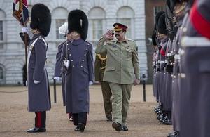 General Sharif was met by a ceremonial guard upon his arrival [Picture: Sergeant Ross Tilly RAF, Crown copyright]